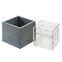 Cal-Mil 22096-83 Ashwood 7 1/2 inch x 7 1/2 inch x 7 inch Gray Oak Wood Adjustable Condiment Organizer