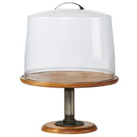 Cal-Mil 4310-7-99 Madera 13 inch x 7 inch Rustic Pine Footed Pedestal Cake Stand