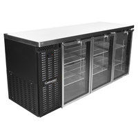 Continental Refrigerator BB79NGD 79 inch Black Glass Door Back Bar Refrigerator