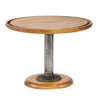 Cal-Mil 4310-9-99 Madera 13 inch x 9 inch Rustic Pine Footed Pedestal Cake Stand
