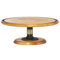 Cal-Mil 4310-5-99 Madera 13 inch x 5 inch Rustic Pine Footed Pedestal Cake Stand