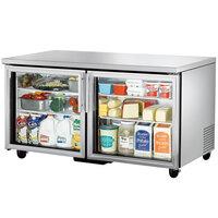 True TUC-60G 60 inch Glass Door Undercounter Refrigerator