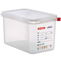 Araven 03028 1/4 Size Translucent Polypropylene Food Pan with Airtight Lid - 6 inch Deep