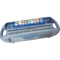 San Jamar SW1218 Saf-T-Wrap Film / Foil Station with Safety Blade and Label Dispenser