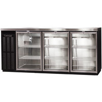 Continental Refrigerator BB79SNGD 79 inch Black Shallow-Depth Glass Door Back Bar Refrigerator