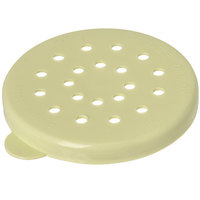 Carlisle 426104 Yellow Shaker / Dredge Lid for Coarse Ground Product