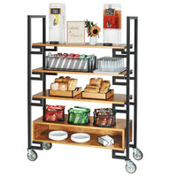 Cal-Mil 22123-99 Madera 18 inch x 48 inch x 70 1/2 inch Rustic Pine 5-Tier Serving Cart