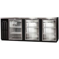 Continental Refrigerator BB90SNGDPT 90 inch Black Shallow-Depth Glass Door Pass-Through Back Bar Refrigerator
