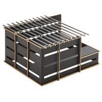 Cal-Mil 22089-90 Empire Black Metal 13 inch x 14 inch x 7 1/4 inch Butane Stove Frame