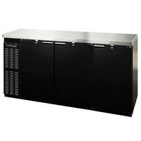 Continental Refrigerator BB79NPT 79 inch Black Solid Door Pass-Through Back Bar Refrigerator