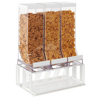 Cal-Mil 4108-15 Portland White 3-Compartment Cereal Dispenser - 16 inch x 9 inch x 23 1/2 inch