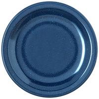 Carlisle 4350535 Dallas Ware 5 5/8 inch Cafe Blue Melamine Bread and Butter Plate - 48/Case