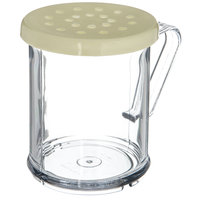 Carlisle 426004 8 oz. Polycarbonate Shaker / Dredge with Yellow Lid for Coarse Ground Product