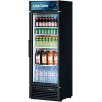 Turbo Air TGM-15SD Black 26 inch Super Deluxe Single Door Refrigerated Merchandiser - 15.9 Cu. Ft.