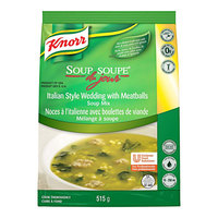 Knorr 18.2 oz. Soup du Jour Italian Style Wedding and Meatballs Soup Mix - 4/Case