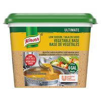 Knorr 1 lb. Ultimate Low Sodium Vegetable Bouillon Base - 6/Case