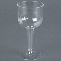 Fineline Flairware 2209 8 oz. Clear Plastic Wine Goblet - 8/Pack
