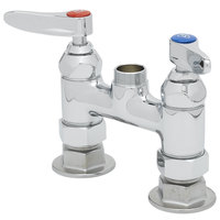 T&S B-0326-LN Deck Mounted Double Pantry Base Faucet with 4 inch Centers