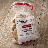 Original Bagel 1.3 oz. New York Style Cinnamon Raisin Mini Bagel   - 144/Case
