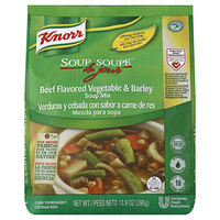 Knorr 13.9 oz. Soup du Jour Beef Flavored Vegetable and Barley Soup Mix - 4/Case