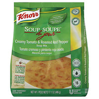 Knorr 17.1 oz. Soup du Jour Creamy Tomato and Roasted Red Pepper Soup Mix - 4/Case