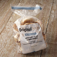 Original Bagel 1.3 oz. New York Style Blueberry Mini Bagel   - 144/Case