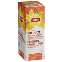 Lipton Orange & Spice Black Tea Bags - 28/Box