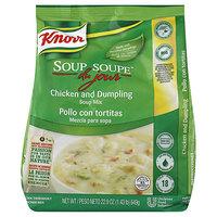 Knorr 22.9 oz. Soup du Jour Chicken Dumpling Soup Mix - 4/Case