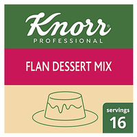 Knorr 8 oz. Cream Caramel Flan Mix   - 6/Case