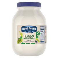 Best Foods 1 Gallon Vegan Mayonnaise Spread   - 4/Case