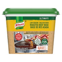 Knorr 1 lb. Ultimate Low Sodium Beef Bouillon Base - 6/Case