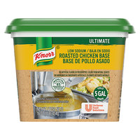 Knorr 1 lb. Ultimate Low Sodium Chicken Bouillon Base - 6/Case