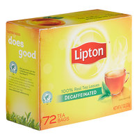 Lipton Decaffeinated Black Tea Bags - 72/Box