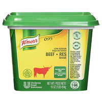 Knorr 1 lb. 095 Low Sodium Beef Bouillon Base   - 12/Case