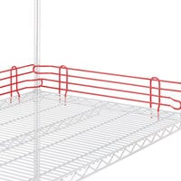Metro L48N-4-DF Super Erecta Flame Red Stackable Ledge 48 inch x 4 inch