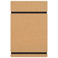 H. Risch MDF 8 1/2 inch x 11 inch Customizable Menu Board with Black Band