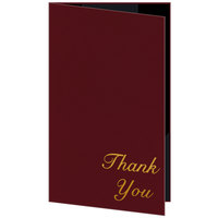 H. Risch 5000H-ST 5 inch x 9 inch Customizable Wine Thank You Double Panel Check Presenter with Interior Strips