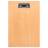 H. Risch BIRCH-MBCLIP 5 1/2 inch x 8 1/2 inch Birch Menu Board with Clip
