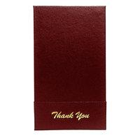 H. Risch 1000H 5 inch x 9 inch Customizable Wine Single Panel Check Presenter