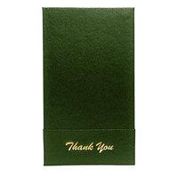 H. Risch 1000H 5 inch x 9 inch Customizable Green Single Panel Check Presenter