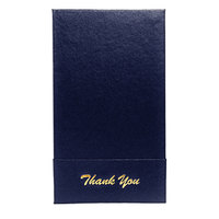 H. Risch 1000H 5 inch x 9 inch Customizable Blue Single Panel Check Presenter