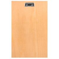 H. Risch BIRCH-MBCLIP 8 1/2 inch x 14 inch Birch Menu Board with Clip