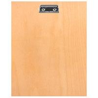 H. Risch BIRCH-MBCLIP 8 1/2 inch x 11 inch Birch Menu Board with Clip
