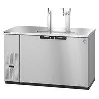 Hoshizaki DD59-S Stainless Steel Single/Double Tap Kegerator Beer Dispenser - (2) 1/2 Keg Capacity