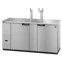 Hoshizaki DD69-S Stainless Steel Single/Double Tap Kegerator Beer Dispenser - (3) 1/2 Keg Capacity