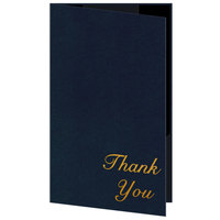H. Risch 5000H-ST 5 inch x 9 inch Customizable Blue Thank You Double Panel Check Presenter with Interior Strips