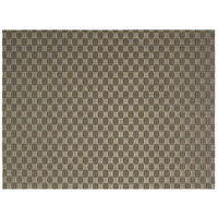 Front of the House XPM083GOV83 Metroweave 16 inch x 12 inch Bronze Honeycomb Woven Vinyl Rectangle Placemat - 12/Pack
