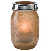 Hollowick 1610AG Firefly Antique Gold Jar with Tealight Cradle
