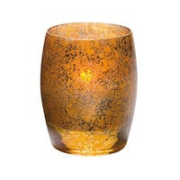 Hollowick 6404AG Contour Antique Gold Glass Votive