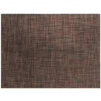 Front of the House XPM124COV83 Metroweave 16 inch x 12 inch Rust Mesh Woven Vinyl Rectangle Placemat - 12/Pack